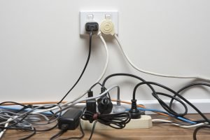 too many plugs plugged into one outlet